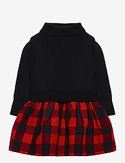 GAP - Toddler Mix-Media Dress - kleider - buffalo plaid - 0