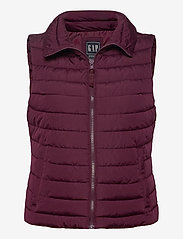 GAP - Upcycled Lightweight Puffer Vest - puffer vests - secret plum - 0