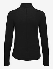 GAP - Fitted Funnel-Neck T-Shirt - long-sleeved tops - true black - 1