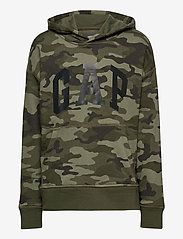 GAP - FT INTL ARCH PO HD - kapuzenpullover - green camo - 0