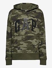 GAP - FT INTL ARCH PO HD - hoodies - green camo - 0