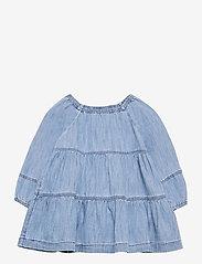 GAP - Baby Denim Tiered Dress - kleider - denim 616 - 0