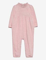 GAP - Baby Knit Ruffle One-Piece - langärmelig - pink heather - 0
