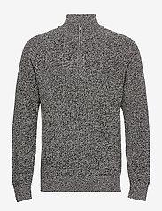 GAP - Mockneck Shaker Sweater - half zip - charcoal heather - 0