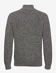 GAP - Mockneck Shaker Sweater - half zip - charcoal heather - 1