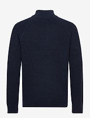 GAP - Mockneck Shaker Sweater - half zip - new classic navy - 1