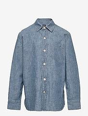 GAP - Kids Chambray Button-Up Shirt - overhemden - medium wash - 0