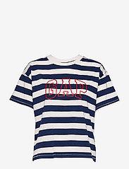 GAP - GAP EASY SS TEE - t-shirts - navy white stripe - 0