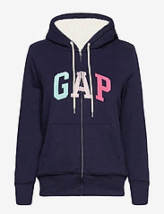 GAP - Gap Logo Sherpa Hoodie - hoodies - navy uniform - 0