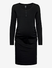 GAP - Maternity Scoopneck Henley Dress - midi dresses - true black - 0