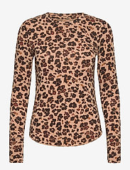 GAP - Feather T-Shirt - long-sleeved tops - leopard print - 0