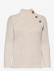 GAP - Asymmetrical Button Mockneck Raglan Sweater - jumpers - marshmallow 11-4300tcx - 0