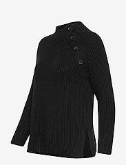 GAP - Asymmetrical Button Mockneck Raglan Sweater - jumpers - true black - 2