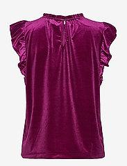 GAP - Sleeveless Velvet Ruffle Top - sleeveless blouses - exotic fuchsia - 1