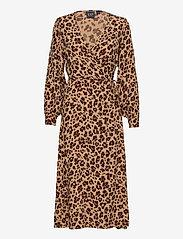 GAP - Wrap-Front Maxi Dress - wrap dresses - leopard print - 0