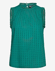 GAP - Shirred Lace Top - Ærmeløse bluser - teal green 19-4922 tcx - 0
