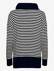 GAP - Softspun Cowl-Neck Top - turtlenecks - navy stripe - 1