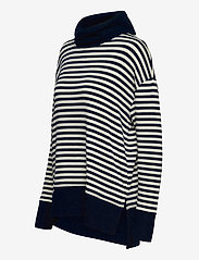 GAP - Softspun Cowl-Neck Top - turtlenecks - navy stripe - 2