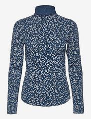 GAP - Funnel-Neck Print T-Shirt - long-sleeved tops - blue floral - 0