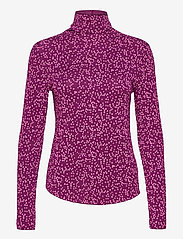 GAP - Funnel-Neck Print T-Shirt - long-sleeved tops - pink floral 1 - 0