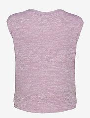 GAP - Softspun Sleeveless Twist-Knot Front T-Shirt - sleeveless tops - elderberry - 1