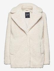 GAP - Sherpa Teddy Jacket - faux fur - ivory - 0