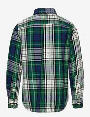 GAP - Kids Plaid Shirt - shirts - navy/green plaid - 1