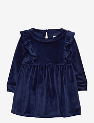 GAP - Toddler Velour Ruffle Skater Dress - kleider - navy uniform v2 - 0