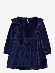 GAP - Toddler Velour Ruffle Skater Dress - kleider - navy uniform v2 - 1
