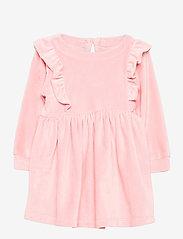 GAP - Toddler Velour Ruffle Skater Dress - kleider - pink standard - 0
