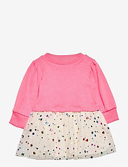 GAP - Toddler Mix-Media Dress - kleider - sizzling fuchsia neon - 0