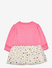GAP - Toddler Mix-Media Dress - kleider - sizzling fuchsia neon - 1