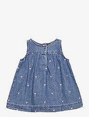 GAP - Baby Denim Jumper Dress - kleider - light wash - 1