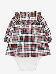 GAP - Baby Plaid Dress - kleider - ivory frost - 1