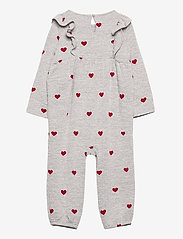 GAP - Baby Softspun Ruffle One-Piece - langärmelig - grey/red - 1