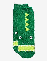 Kids Cozy Fuzzy Socks - HOLIDAY GREEN