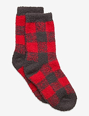 GAP - Kids Cozy Fuzzy Socks - skarpetki - red buffalo check - 0
