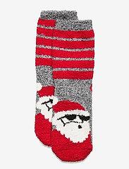 Kids Cozy Fuzzy Socks - SANTA