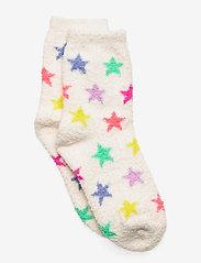 Kids Cozy Fuzzy Socks - IVORY FROST