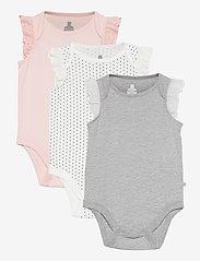 GAP - Baby 100% Organic Cotton Mix and Match Bodysuit (3-Pack) - korte mouwen - multi - 0