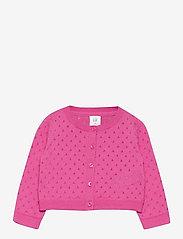 GAP - Toddler Pointelle Cardigan - gilets - neon pink rose - 0