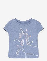 GAP - Toddler 100% Organic Cotton Mix and Match Graphic T-Shirt - kortærmede - unicorn graphic - 0