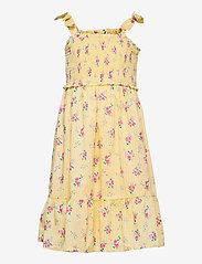 GAP - Kids Smocked Floral Dress - kjoler & nederdele - yellow flowers - 0