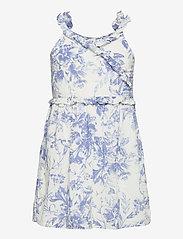 GAP - Kids Wrap Ruffle Dress - kjoler & nederdele - blue floral - 0