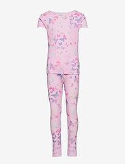 GAP - Kids 100% Organic Cotton Butterfly PJ Set - sæt - lilac - 0