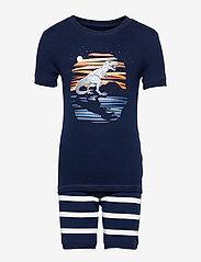 GAP - Kids 100% Organic Cotton Dinosaur PJ Set - pyjamas - elysian blue - 0