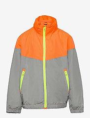 GAP - Kids 100% Recycled Polyester Colorblock Windbuster - windbreaker jassen - neon orange bolt - 0