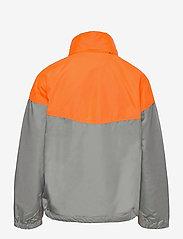GAP - Kids 100% Recycled Polyester Colorblock Windbuster - windbreaker jassen - neon orange bolt - 1