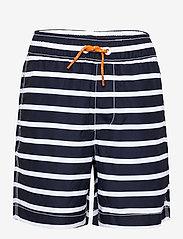 GAP - Kids 100% Recycled Polyester Stripe Swim Trunks - badehosen - navy stripe - 0