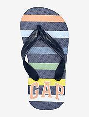 GAP - Kids Stripe Gap Logo Flip Flops - flip-flops & badeschuhe - navy multi stripe v2 - 3